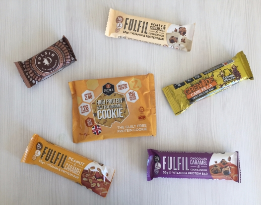 A selection of protein bars that I also packed.